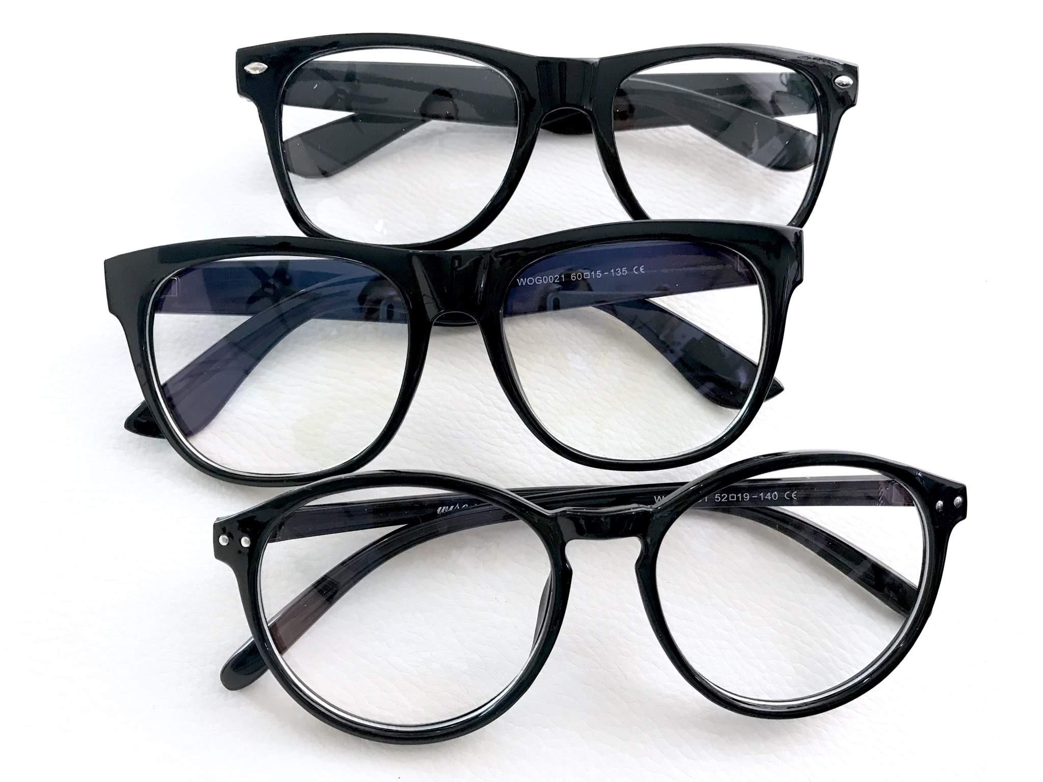 Dioptria nélküli kocka női férfi divat szemüveg
