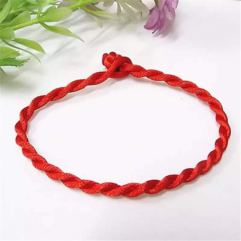 Különleges Kabbalah piros fonál karkötő vékony ⋆ Violet Bizsu webáruház 649514e174